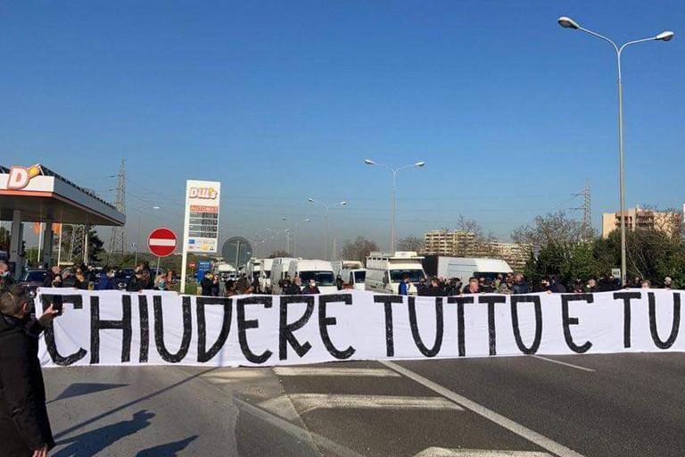 protesta tangenziale bari