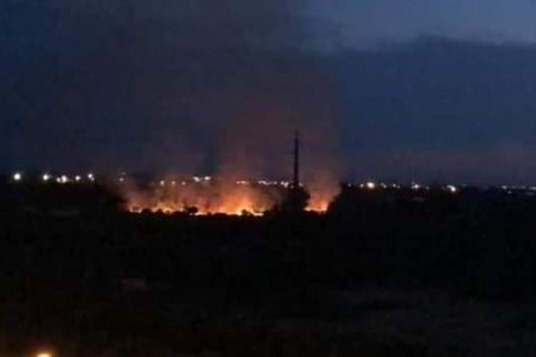 L'incendio a Santa Rita. <span>Foto Rangers Puglia</span>