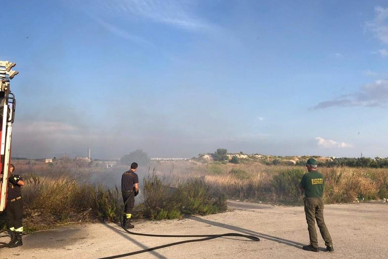L'incendio a Mungivacca