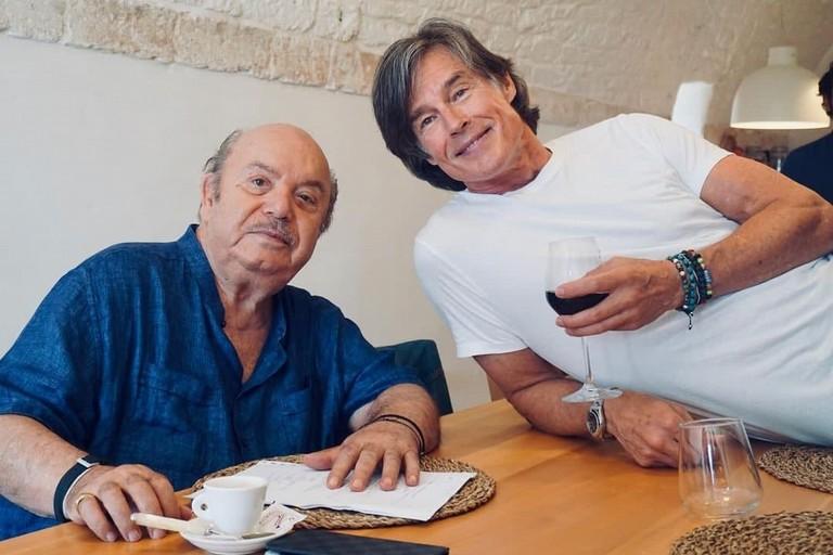 Ronn Moss con Lino Banfi