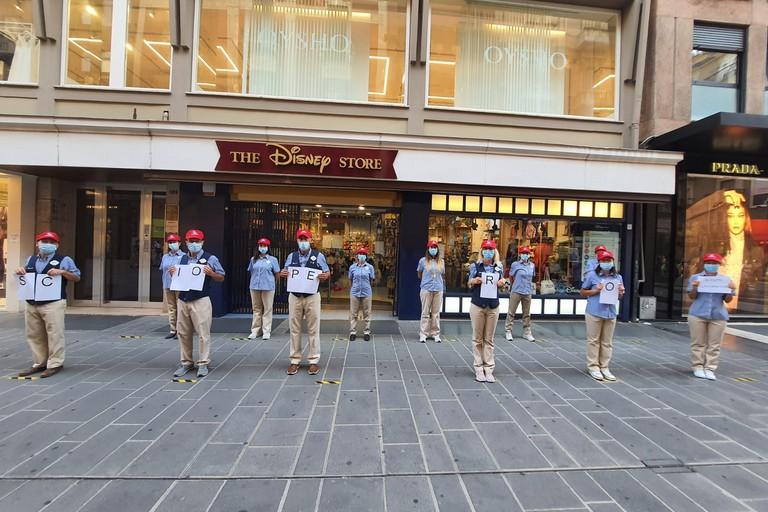 sciopero disney store