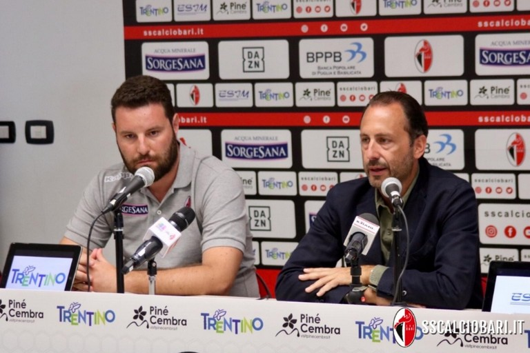 Conferenza stampa Bedollo. <span>Foto Ssc Bari</span>