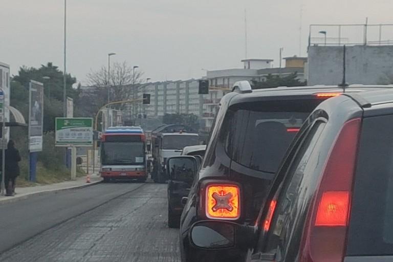 traffico congestionato carbonara