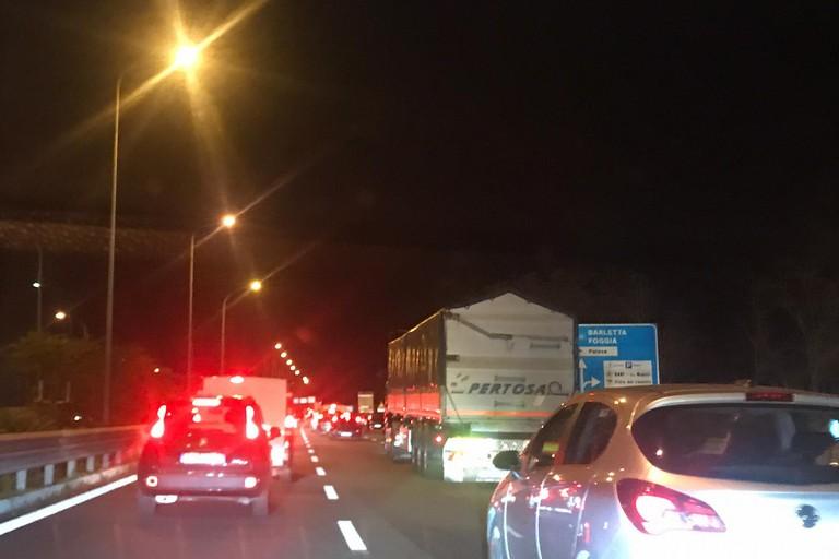 Traffico sulla SS