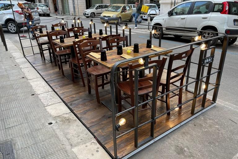 Un Parklet installato in centro a Bari