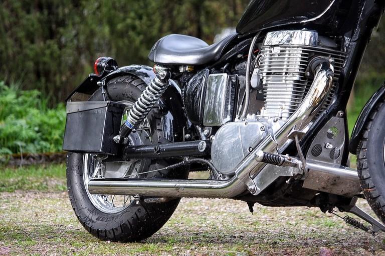 Una motocicletta