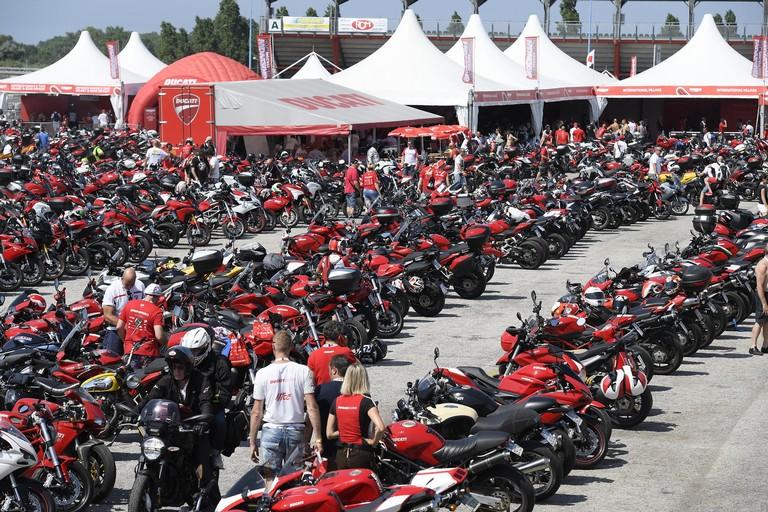 Un raduno Ducati