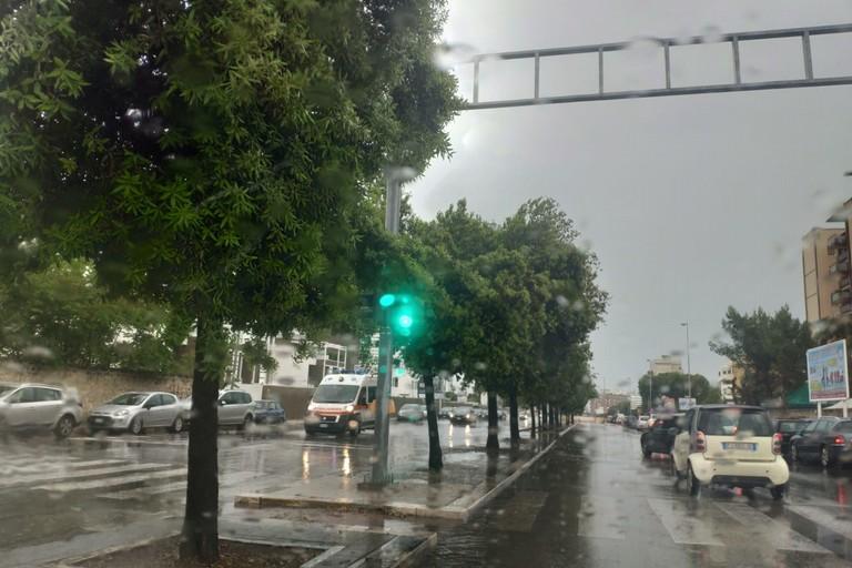 pioggia su bari